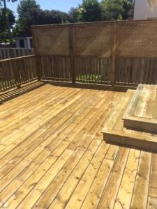 pressure treated deck one level