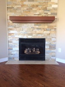 custom fireplace with mantle