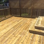 pressure treated deck one level
