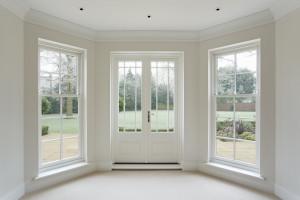 door and window with mullions