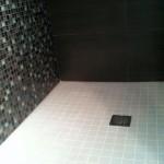 Slope on shower floor